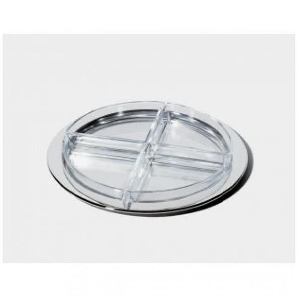 Antipastiera vetro e acciaio