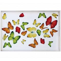 Vassoio in legno Farfalle